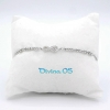 Bracciale Infinito Cuore Cristal White