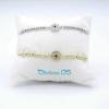 Bracciale Tondo Color e Cristal White